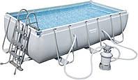 Каркасный бассейн Bestway 56442 с песочным фильтром (404 x 201 x 122 см.)