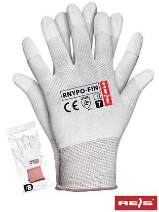 Защитные рукавицы с покрытием окончания пальцев RNYPO-FIN W, фото 2