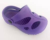 """Шлепанцы детские для девочек """"Смайлики"""". Фиолетовые."""
