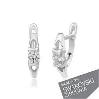 Серебряные серьги с цирконием SWAROWSKI ZIRCONIA С2С/090