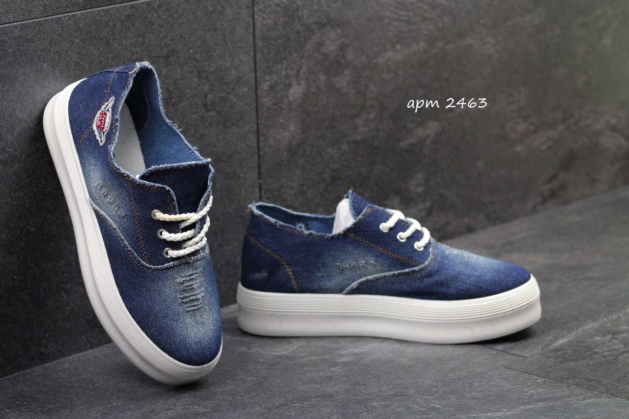 604633d27 Я в шоке!™ | Женские слипоны Gipanis синие на шнурках 2463. Цена ...