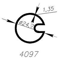 АЛЮМИНИЕВЫЙ ПРОФИЛЬ ALTINEL АНОДИРОВАНОЕ СЕРЕБРО  L=6М (4097)