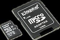Карта памяти Kingston 32 GB microSDHC Class 10 UHS-I + SD Adapter SDC10G2/32GB оригинал Гарантия!