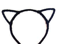 Обруч для волос ушки, кошечка, пушистый черный
