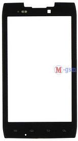 Корпусное стекло на  Motorola XT910, XT912 черное