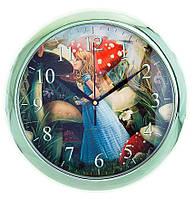 """Детские настенные часы """"Алиса в стране чудес"""" d3"""