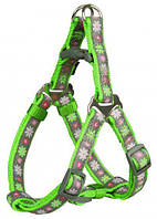 Шлея Trixie Modern Art One Touch Harness Blooms для собак нейлоновая, 25-35 см