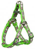 Шлея Trixie Modern Art One Touch Harness Blooms для собак нейлоновая, 40-50 см