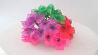 Букетик цветов из ткани микс