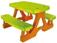 Детский пикниковый игровой столик Mochtoys с двумя скамейками (дитячий ігровий пікніковий столик з лавками)