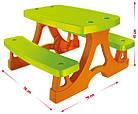 Детский пикниковый игровой столик Mochtoys с двумя скамейками, фото 2