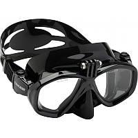 Подводная маска с креплением для экшн-камеры Cressi Sub Action; чёрная, фото 1
