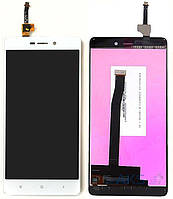Дисплей (экран) для телефона Xiaomi Redmi 3, Redmi 3 Pro, Redmi 3S, Redmi 3S Prime, Redmi 3X + Touchscreen White