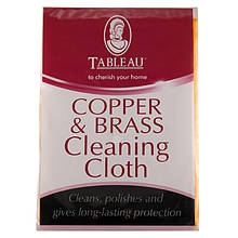 Тканевые салфетки для чистки меди и латуни Copper & Brass Cleaning Cloth & Mitt