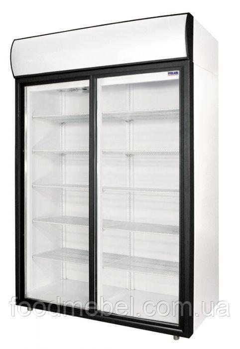 Холодильный шкаф Polair DM114Sd-S с дверями купе стеклянными для напитков