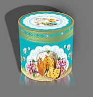 Пасхальная картонная упаковка для кулича тубус