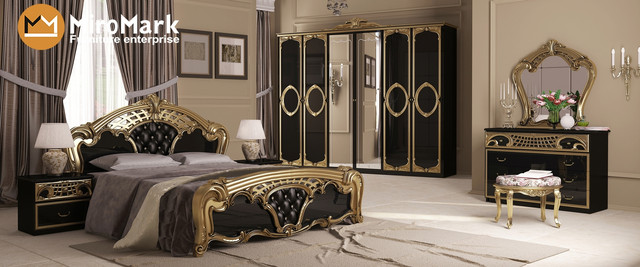 спальня чорного кольору