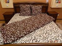 Комплект постельного белья из бязи Gold, шоколад с молоком Полуторное