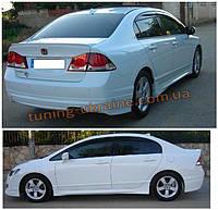 Накладки на пороги Mugen под покраску на Honda Civic 8 2005-2011