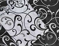 Комплект постельного белья из бязи Gold, черный с белым Двуспальное