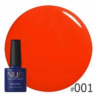 Красный гель-лак NUB Hawaiian Sunset 001