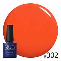 Ярко-оранжевый гель-лак NUB Vacation 002