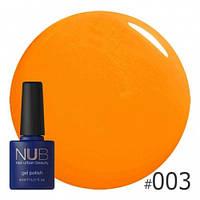 Гель-лак оранжевого цвета NUB Hot Fruit 003