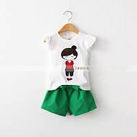 Летний детский костюм для девочки