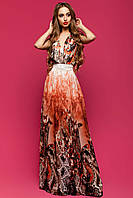 Длинное шифоновое платье в 8ми цветах JD Карри