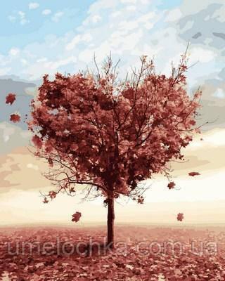 Картина-раскраска Mariposa Осеннее дерево любви (MR-Q2110) 40 х 50 см