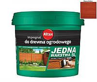 Лазурь-краска тонирующая ALTAX JEDNA WARSTWA для нешлифованной древесины махонь, 5л