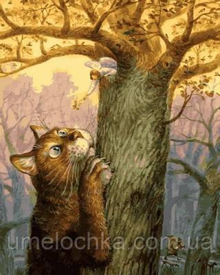 Картина по номерам Mariposa Ангел и его кот Худ Владимир Румянцев (MR-Q2128) 40 х 50 см