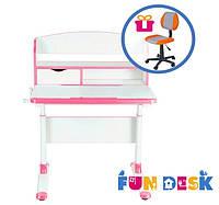 Дитячий стіл-трансформер FunDesk Pensare Pink