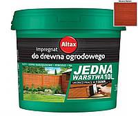 Лазурь-краска тонирующая ALTAX JEDNA WARSTWA для нешлифованной древесины махонь, 10л
