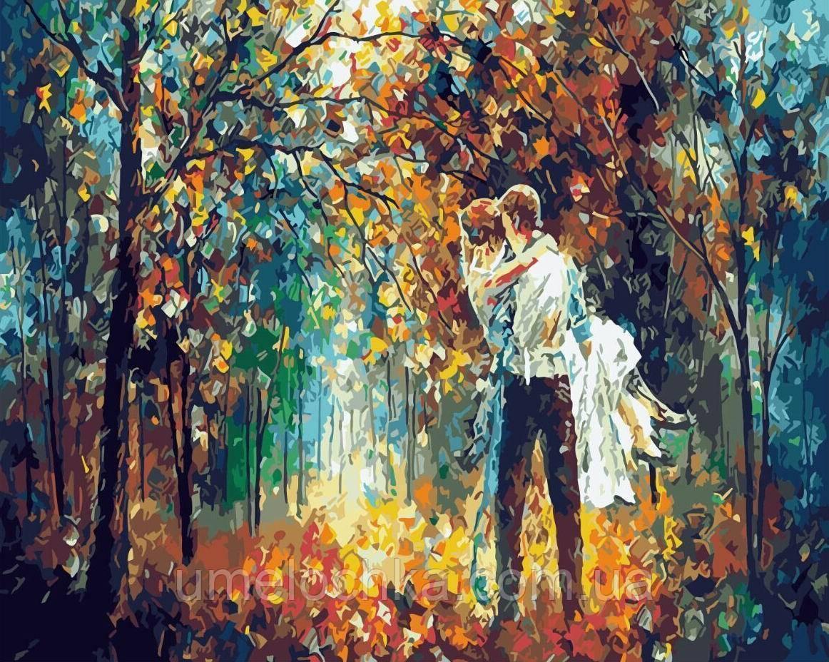 Картина по номерам без коробки Романтика опадающих листьев (BK-GX4368) 40 х 50 см