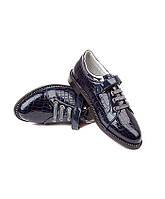 Осенняя подростковая обувь.Туфли для девочек на липучке от фирмы Леопард HA10-2 (6пар,32-37)