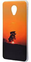 Чехол для Meizu M5 Note IMD с рисунком дерево на закате