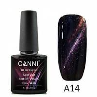 Фиолетово-коралловый магнитный гель-лак 3d cat eye gel А14, 7,3 мл