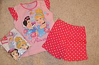 Комплект для девочек с шортиками Дисней Принцессы 3-8 лет