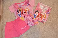 Пижама для девочек с шортиками Дисней Принцессы 92-116 см