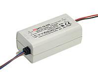 Блок питания Mean Well APC-16-700 Драйвер для светодиодов (LED) 16.8 Вт, 9~24 В, 700 мА (AC/DC Преобразователь)