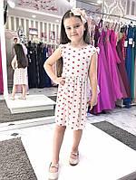 Детское платье с бантиками на плечах