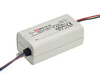 Блок питания Mean Well APV-16-12 Драйвер для светодиодов (LED) 15 Вт, 12 В, 1.25 А (AC/DC Преобразователь)