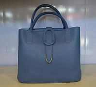 Женская модная сумка через плечо из эко кожи синего цвета