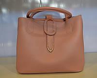 Женская модная сумка через плечо из эко кожи цвета пудры