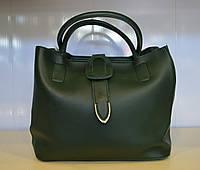 Женская стильная сумка через плечо из эко кожи зеленого цвета