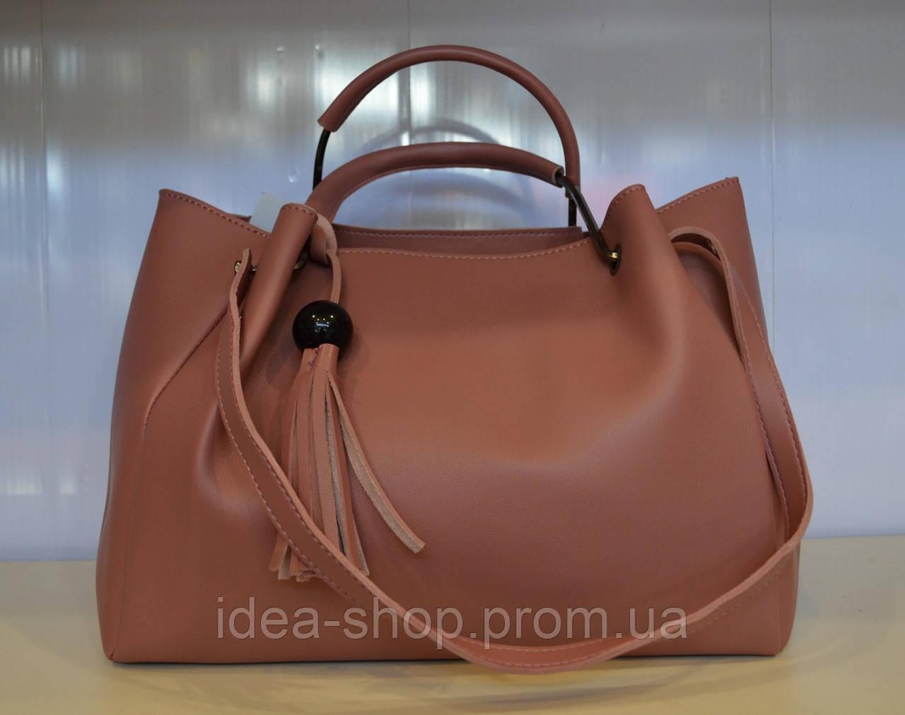 778d5cce7aa7 Женская сумка шоппер из мягкой эко кожи цвета пудры, цена 505 грн., купить  в Харькове — Prom.ua (ID#555634952)