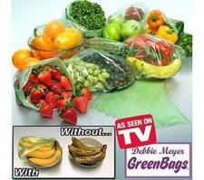 Пакеты Грин Бэгс  поглощают выделяемый газ фруктами ,овощами