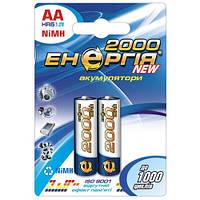 Аккумулятор Энергия HR-6 2000-C2 NiMH, АА, 2000 mAh 2шт на блистере