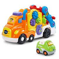 VTech Go! Go! Интерактивный музыкальный автовоз Smart Wheels Deluxe Car Carrier, фото 1